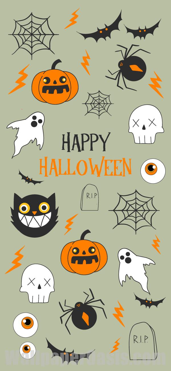Happy Halloween Iphone Wallpaper Halloween Wallpaper Iphone 600x1299 Download Hd Wallpaper Wallpapertip