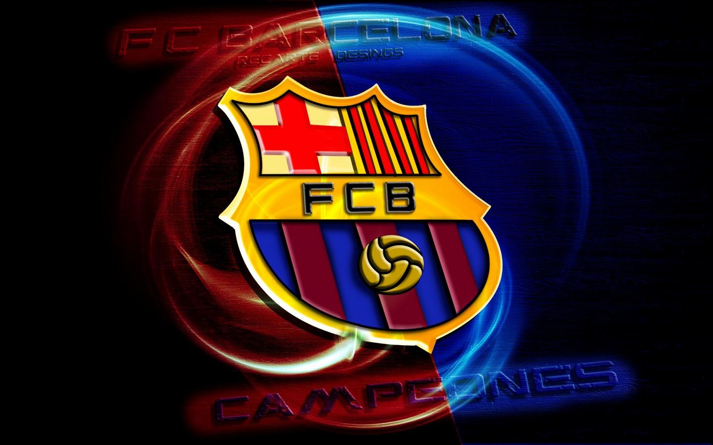 Fc Barcelone Logo 3d Nouveau Fond D Ecran Hd 1440x900 Wallpapertip