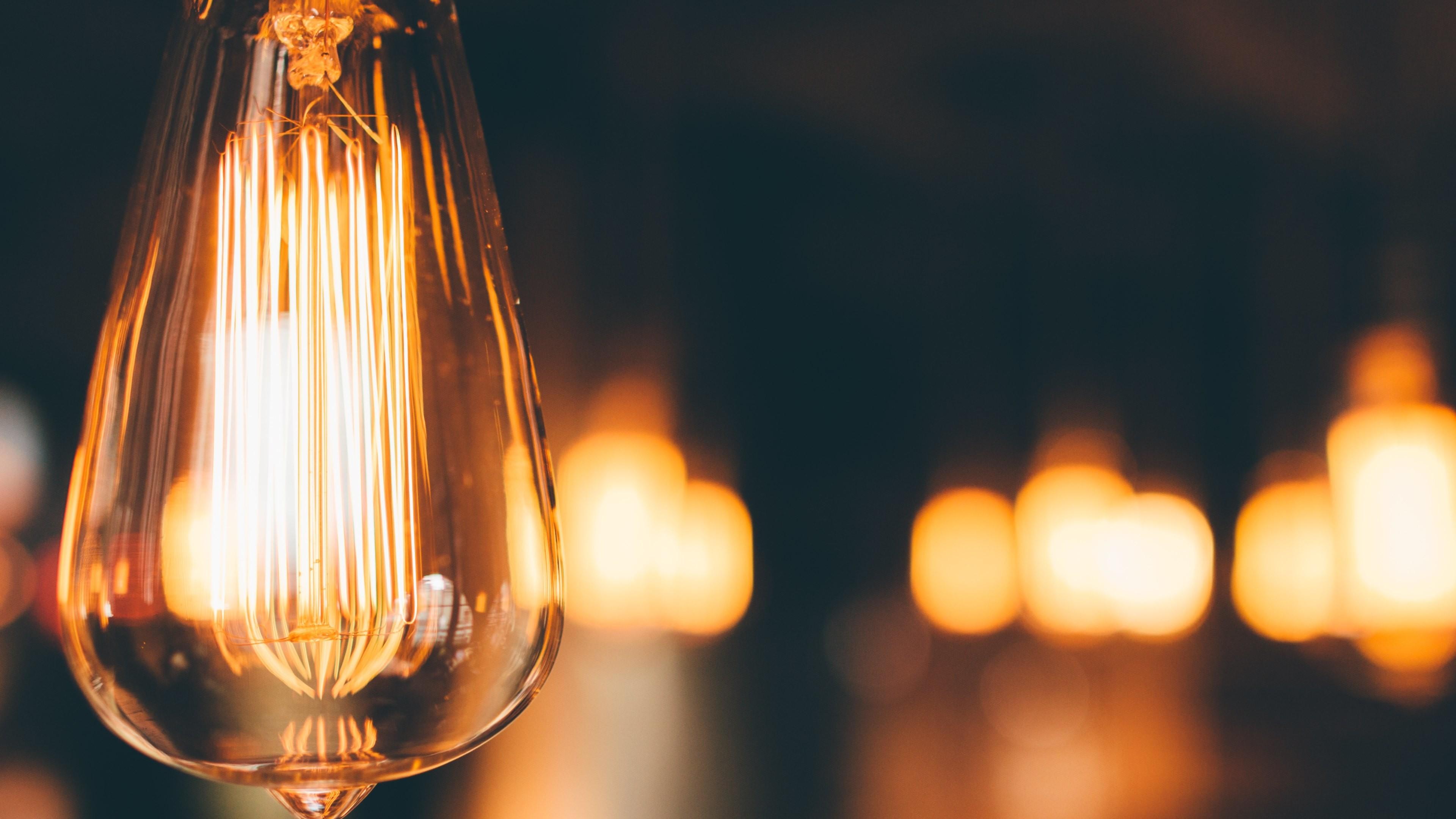 Light Bulb From Storyville Coffee Lights Wallpaper Hd 3840x2160 Download Hd Wallpaper Wallpapertip