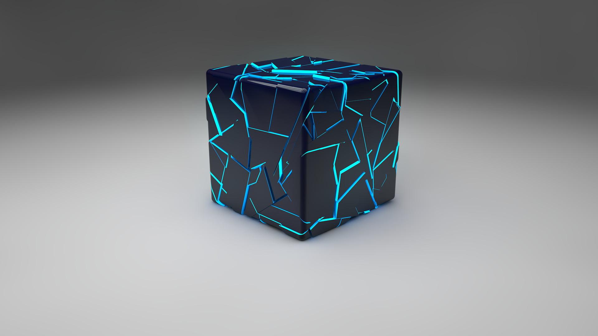 fond d ecran cube noir hd fond d