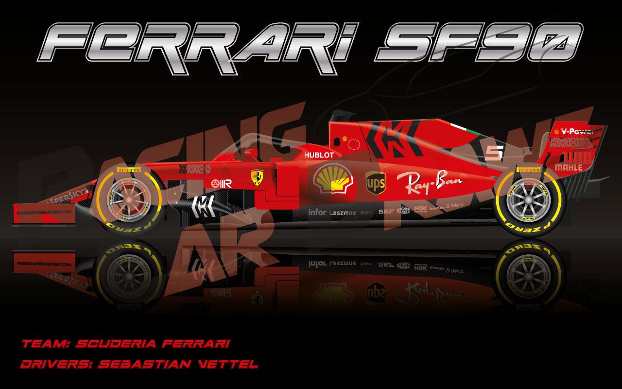 Wallpaper Ferrari Sf90 N Ferrari F1 2019 1280x800 Download Hd Wallpaper Wallpapertip
