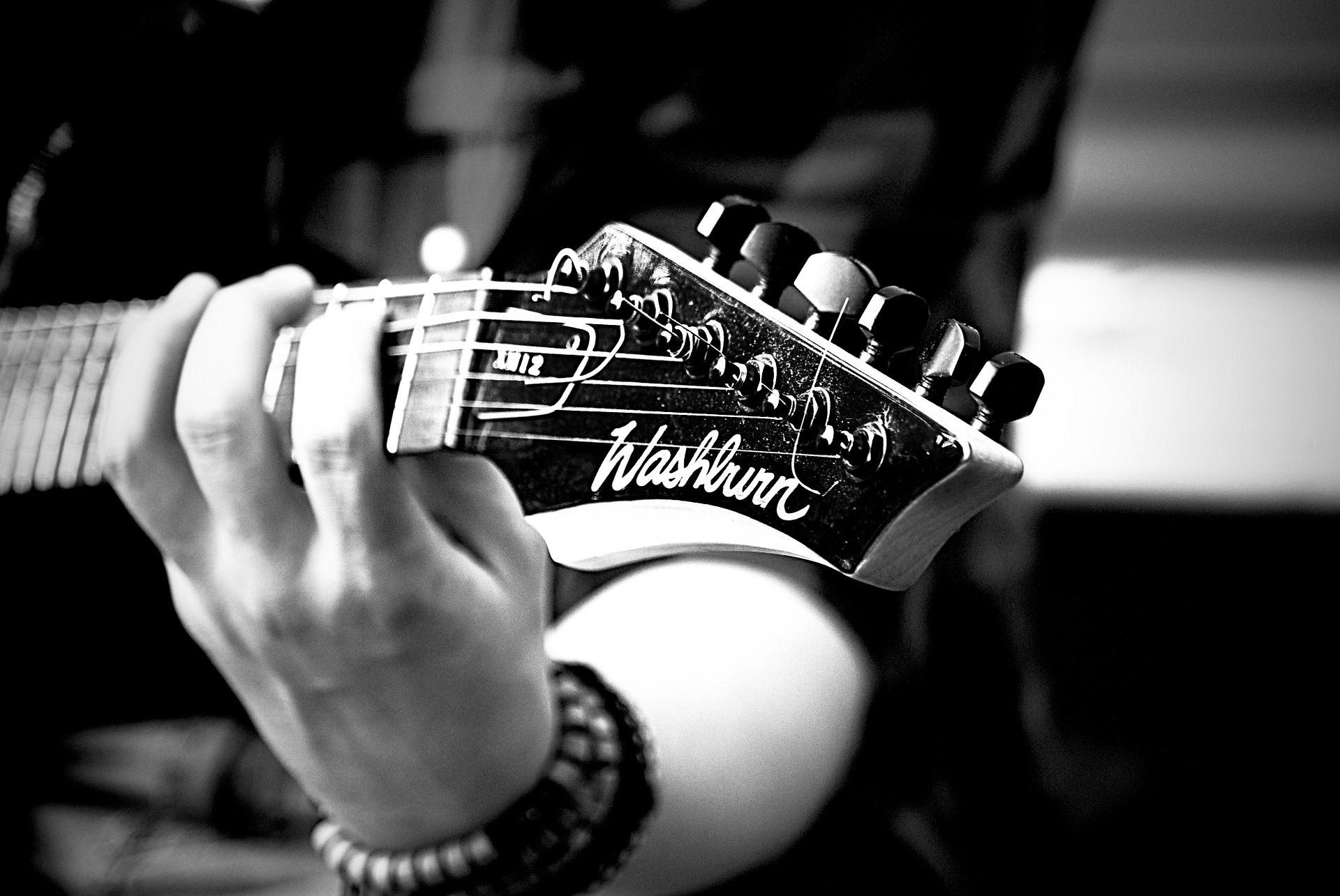 Boy Playing Black Guitar Wallpaper ...