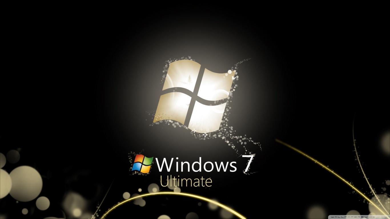 Pcの窓7のためのhdの壁紙 窓7黒壁紙 1366x768 Wallpapertip