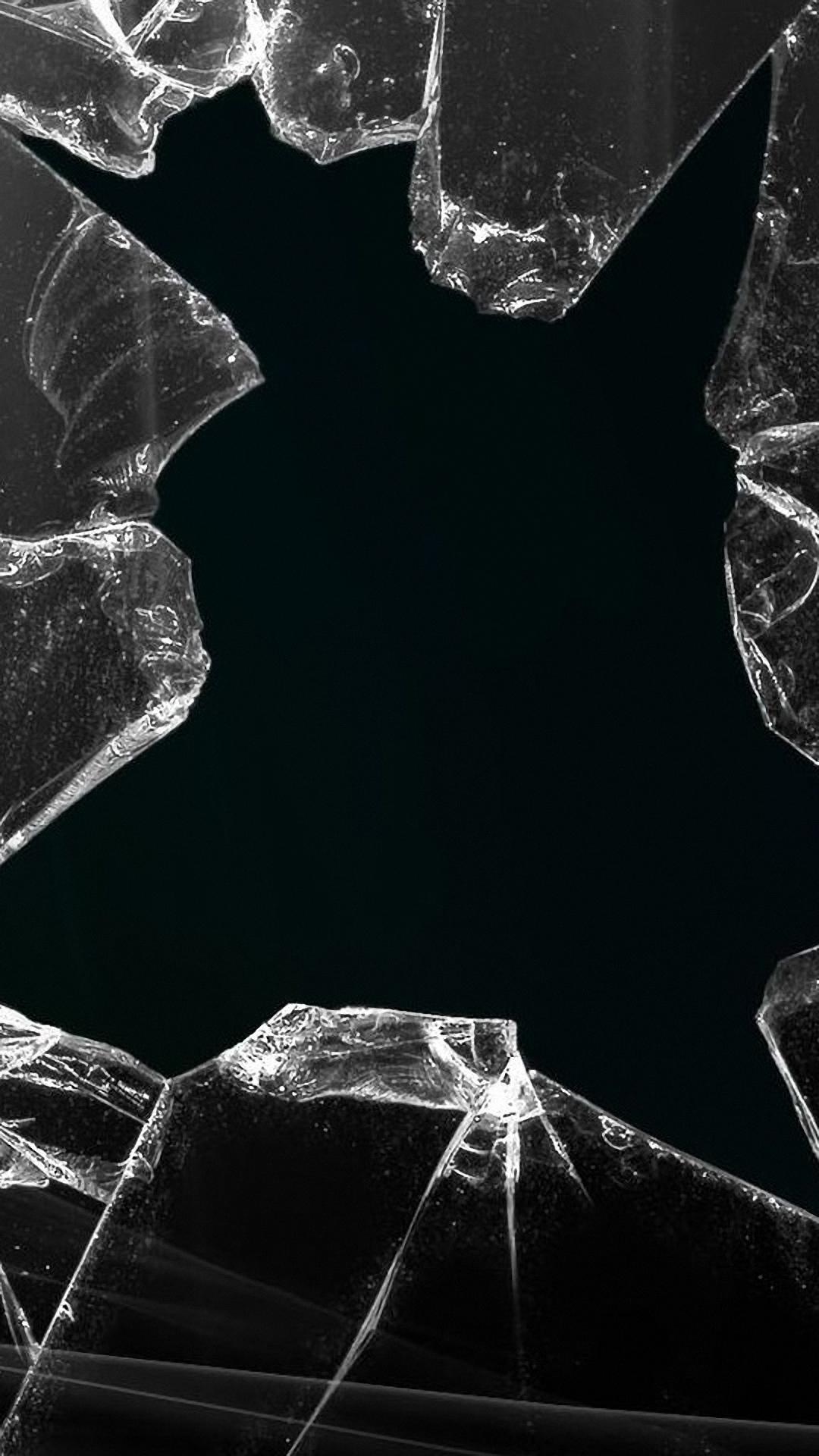 ロック画面iphone壁紙hdブラック 割れたガラスのiphoneの壁紙 1080x19 Wallpapertip