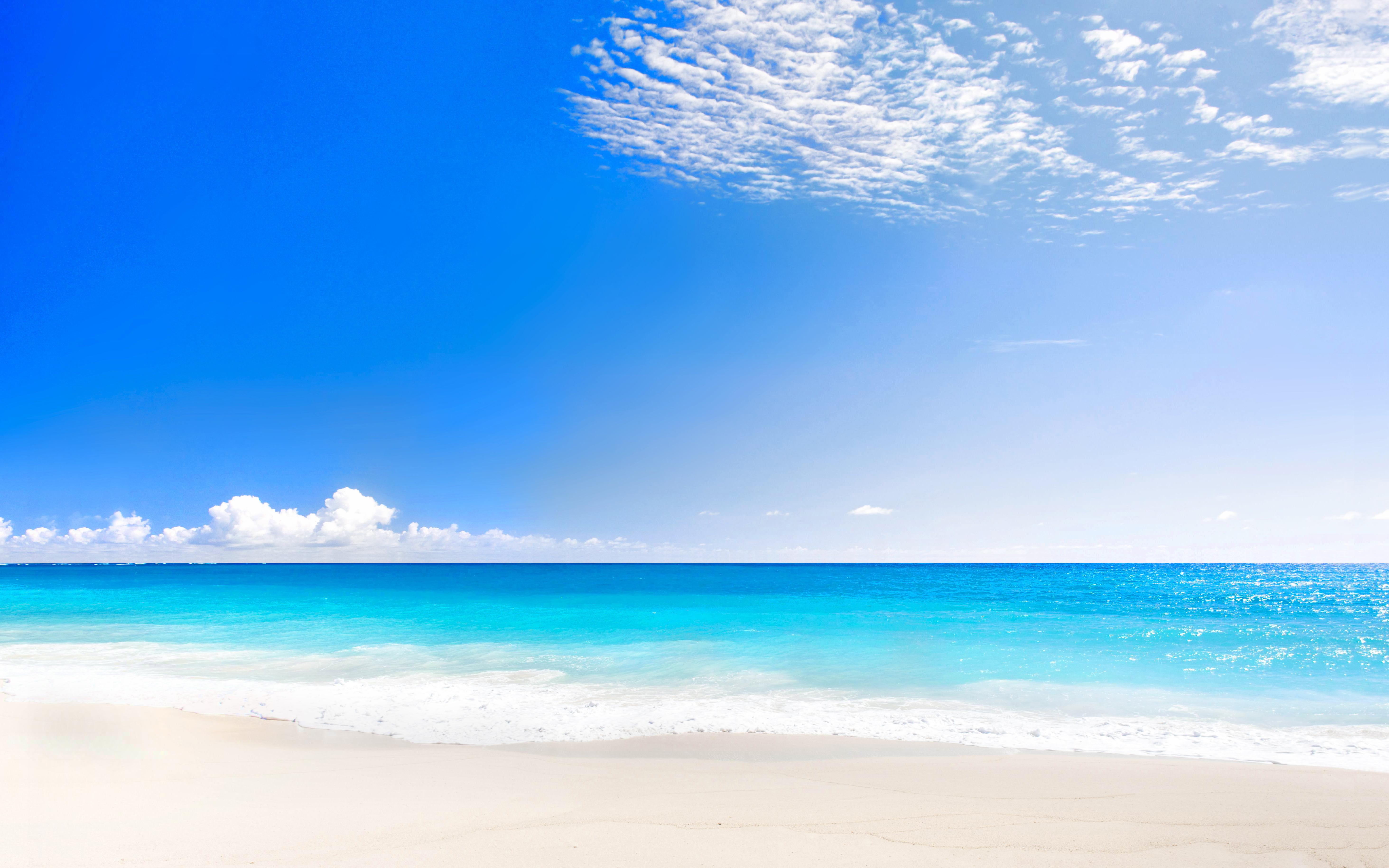 Beach 4k - 2880x1800 - Download HD Wallpaper - WallpaperTip