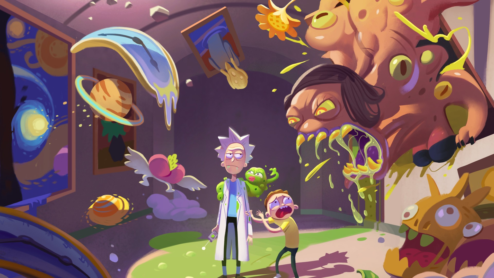 Rick And Morty Desktop Wallpapers With High Resolution Rick Y Morty 4k 1920x1080 Download Hd Wallpaper Wallpapertip
