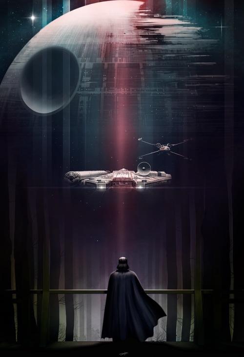 Death Star And Darth Vader 500x732 Download Hd Wallpaper Wallpapertip