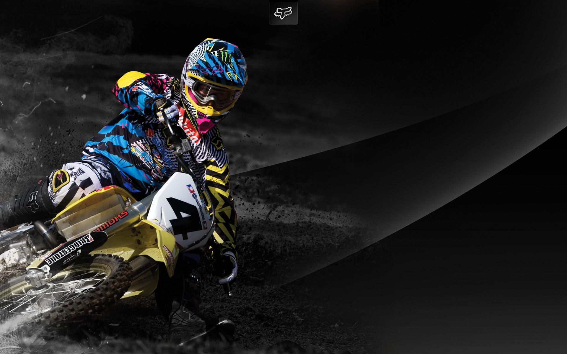 Fox Mx Wallpaper Motocross Fox Racing Background 1920x1200 Download Hd Wallpaper Wallpapertip