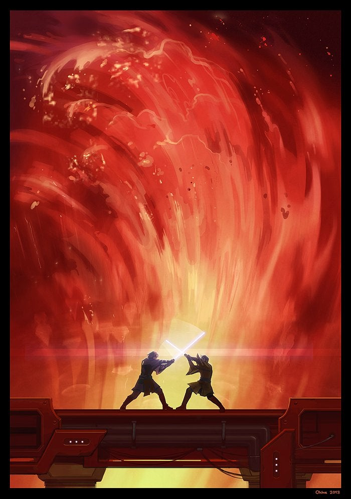 Anakin Vs Obi Wan Art 700x994 Download Hd Wallpaper Wallpapertip
