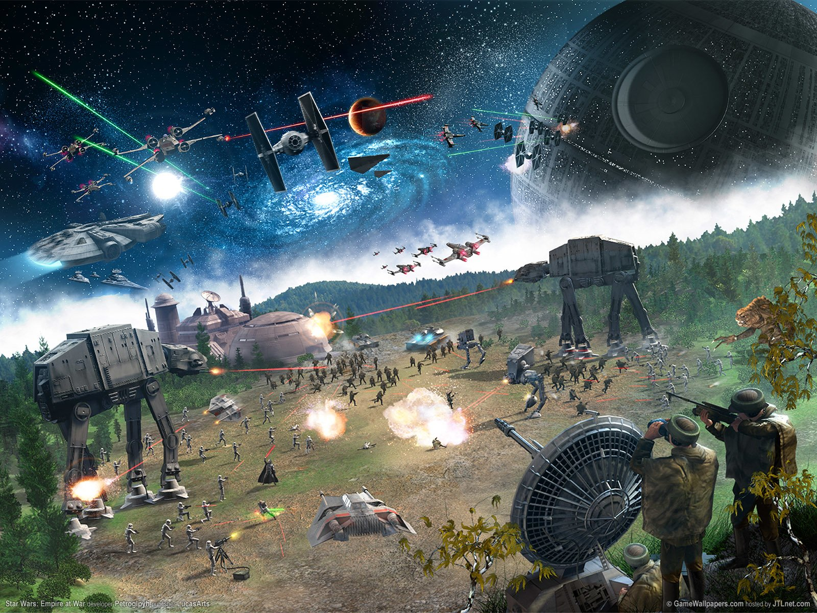 645080 Title Star Wars Battle Scene Video Game Star Star Wars Empire At War 1600x1200 Download Hd Wallpaper Wallpapertip