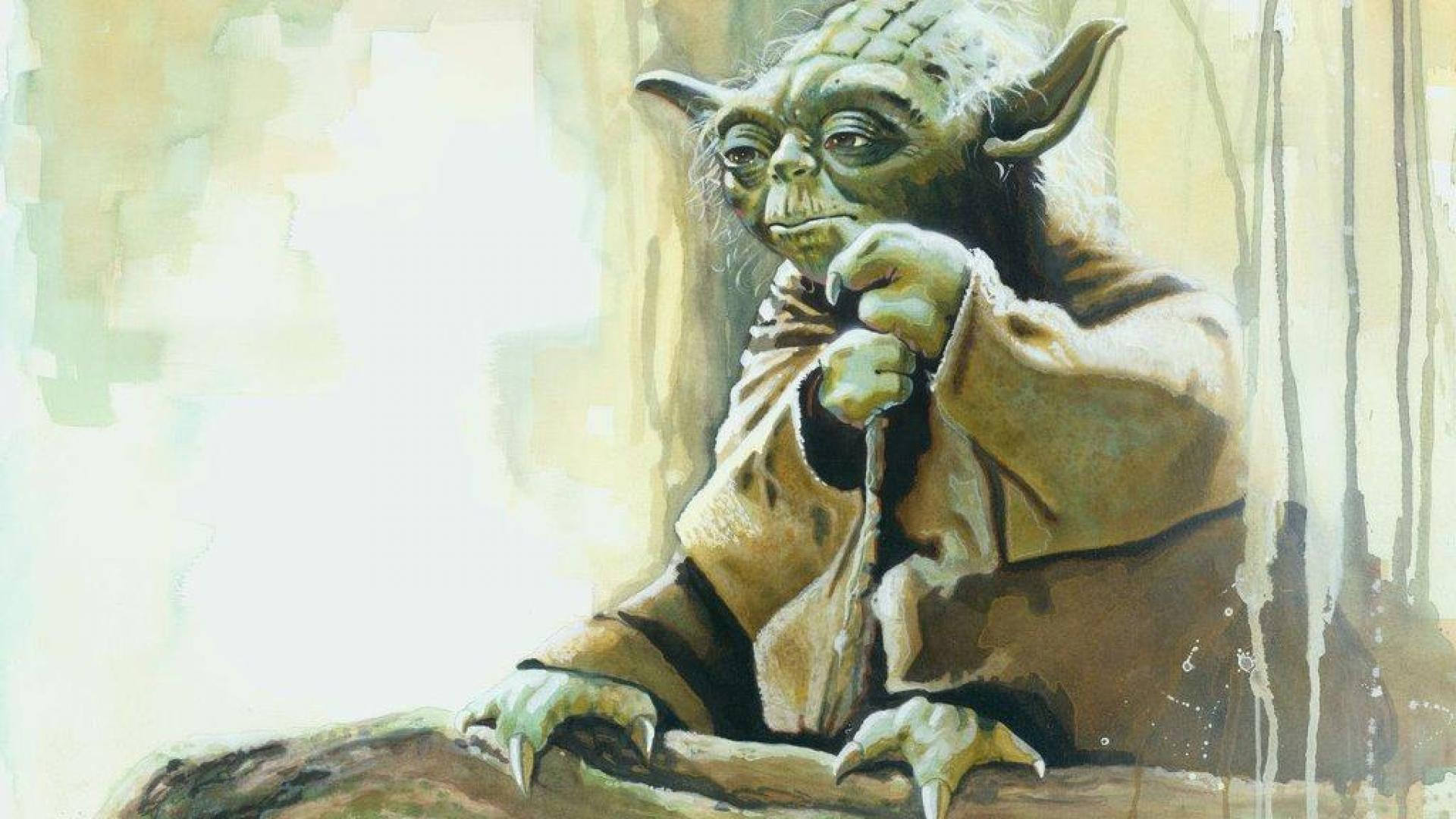 Master Yoda Wallpaper 66731 Hd Wallpapers Wallpapersinhqcom Paintings Star Wars Scenes 1920x1080 Download Hd Wallpaper Wallpapertip