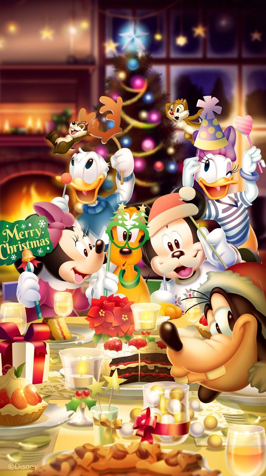 Mickey Mouse Christmas Wallpaper Iphone 890x1590 Download Hd Wallpaper Wallpapertip
