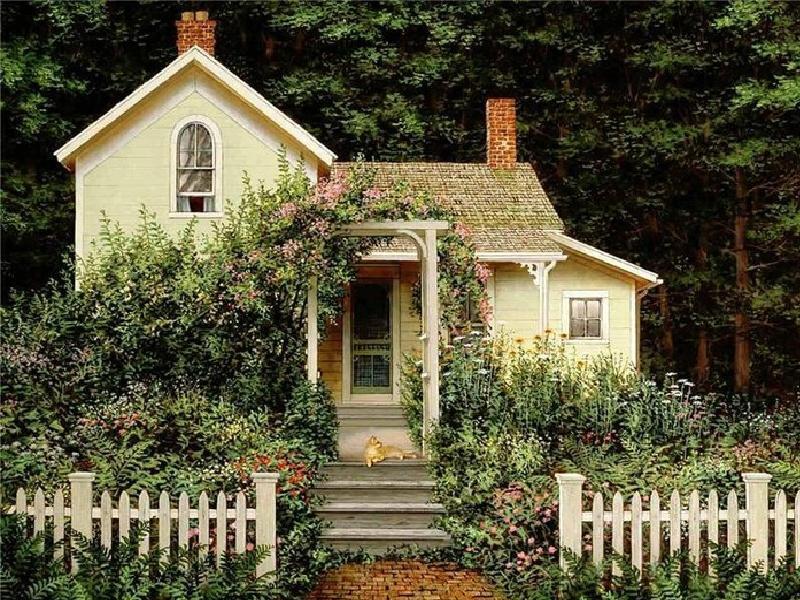 Home Sweet Home Wallpaper Forwallpapercom - Small Cute Cottage House -  800x600 - Download HD Wallpaper - WallpaperTip
