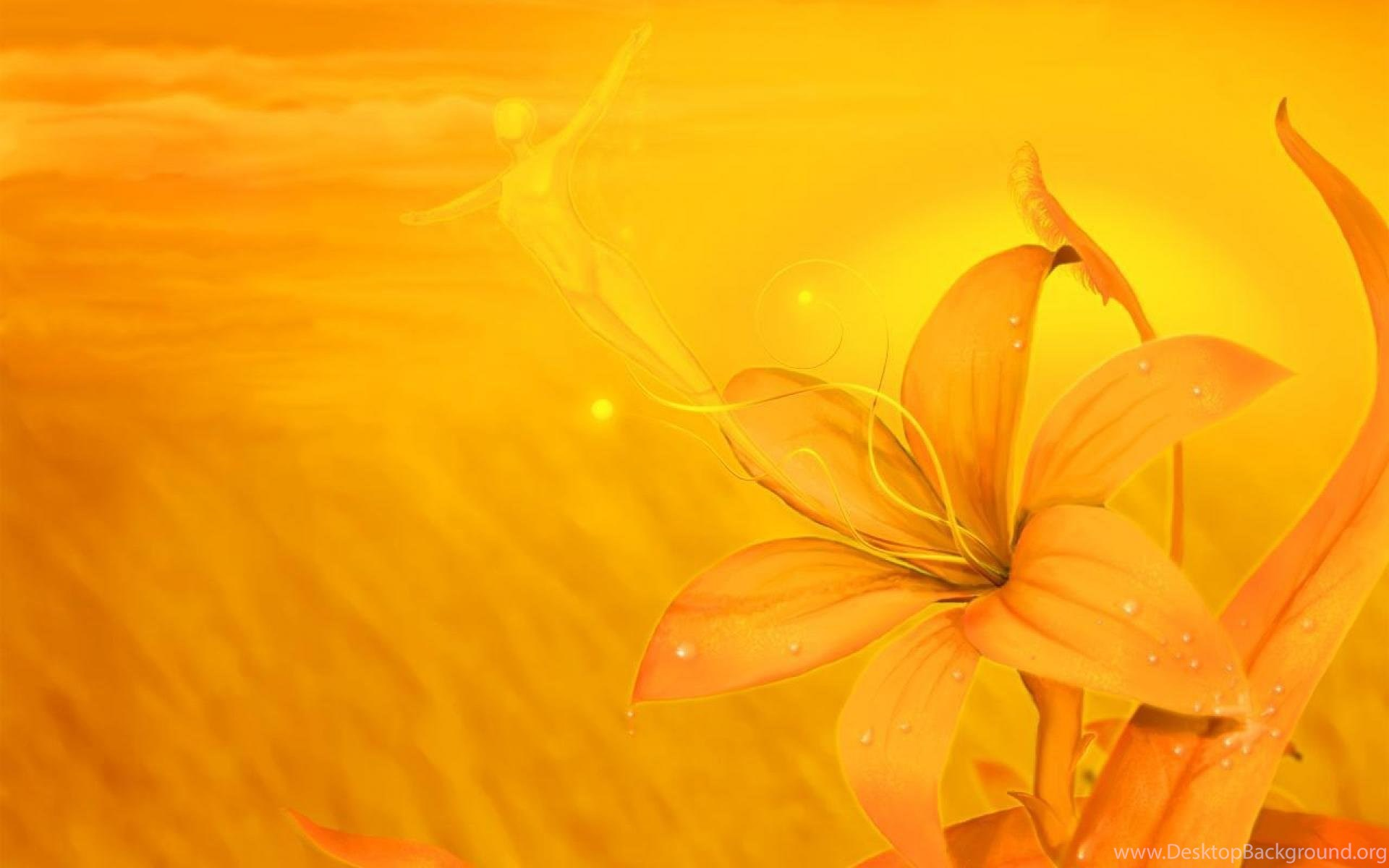 yellow flowers backgrounds wallpapers walldevil best orange flower 1920x1200 download hd wallpaper wallpapertip yellow flowers backgrounds wallpapers