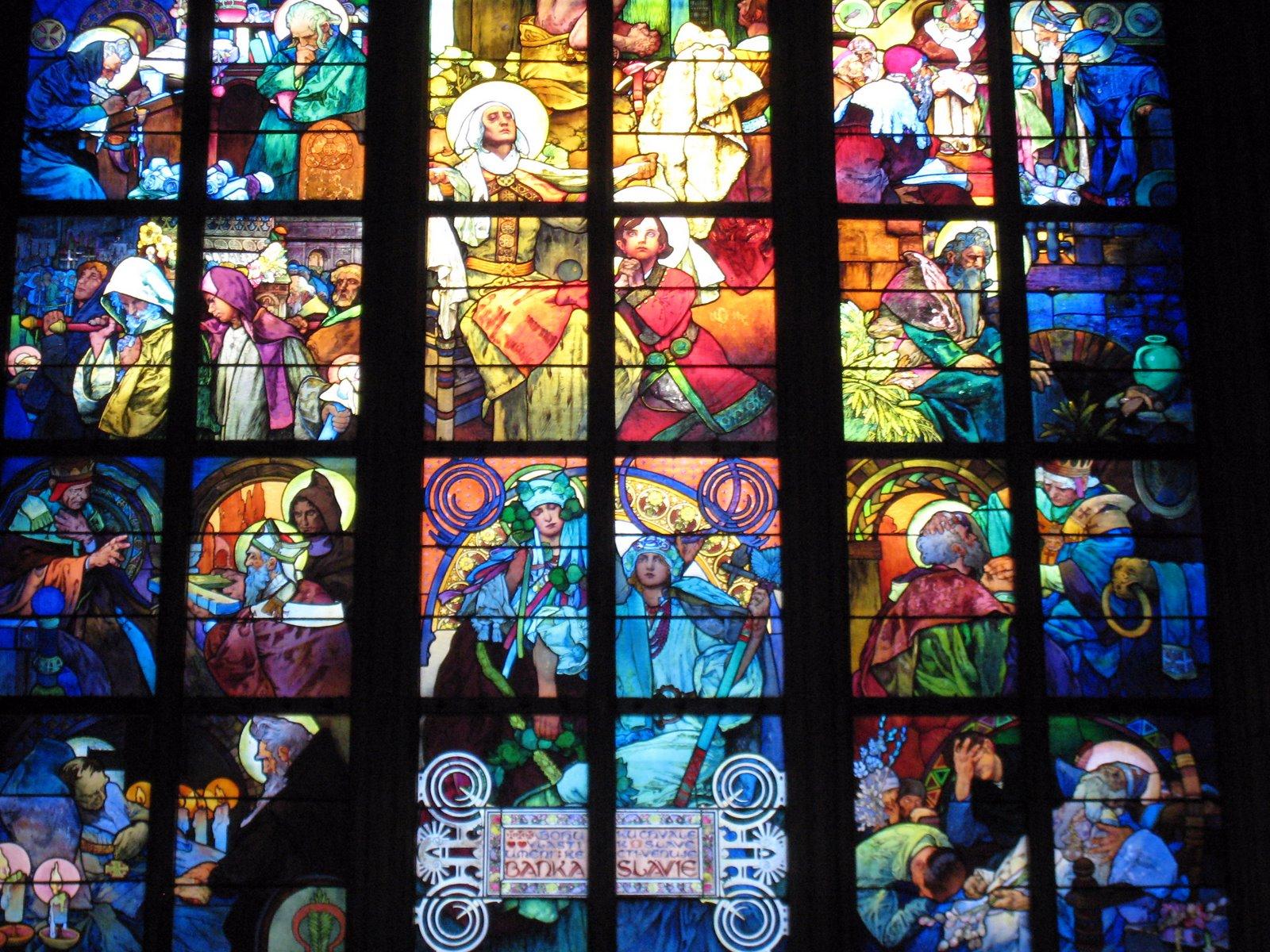 プラハ城のステンドグラスの窓 ステンドグラスの壁紙 1600x10 Wallpapertip