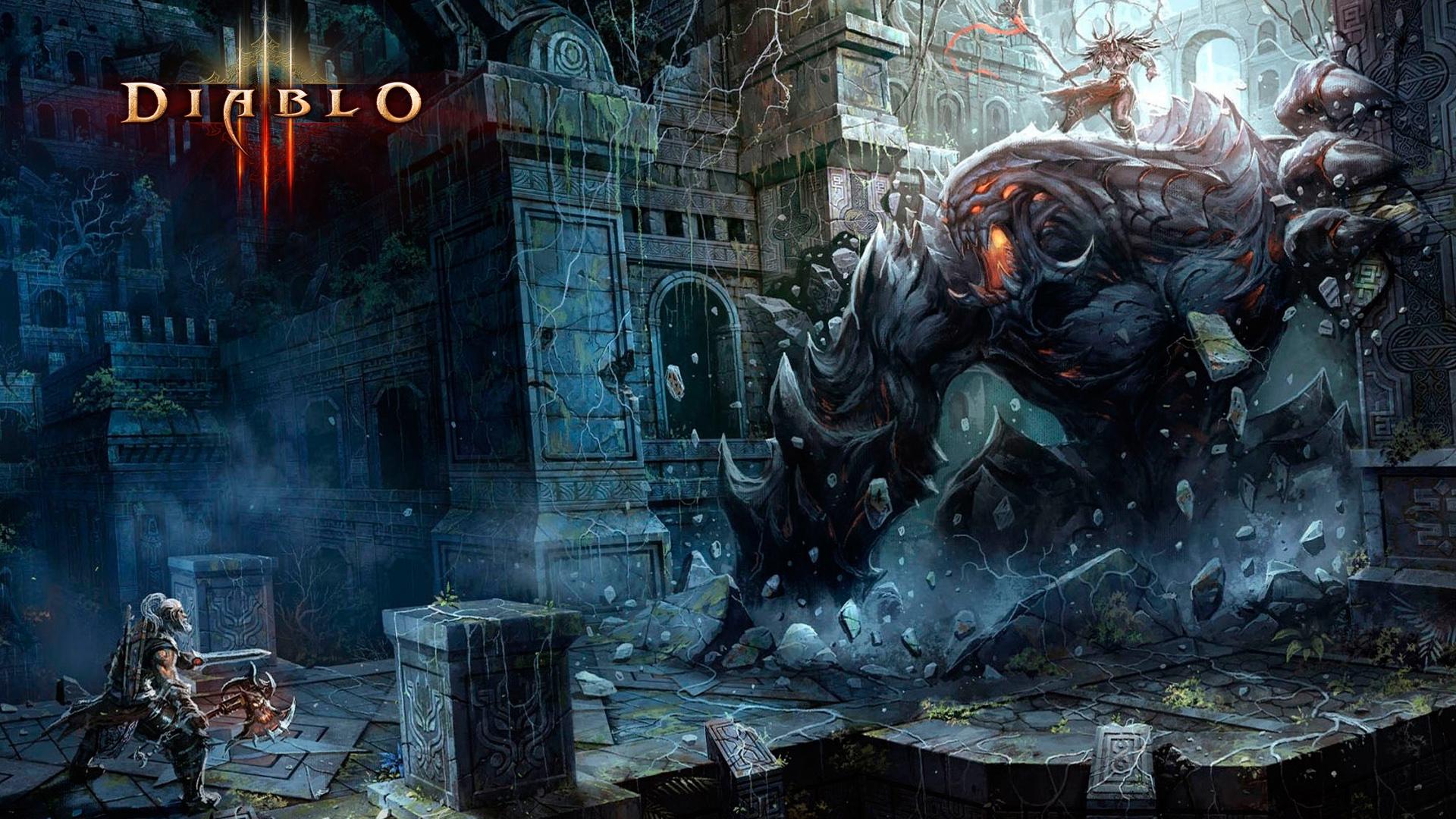 Barbarian Fight Diablo 3 Hd Wallpaper Diablo 3 Wallpaper Hd 1920x1080 Download Hd Wallpaper Wallpapertip