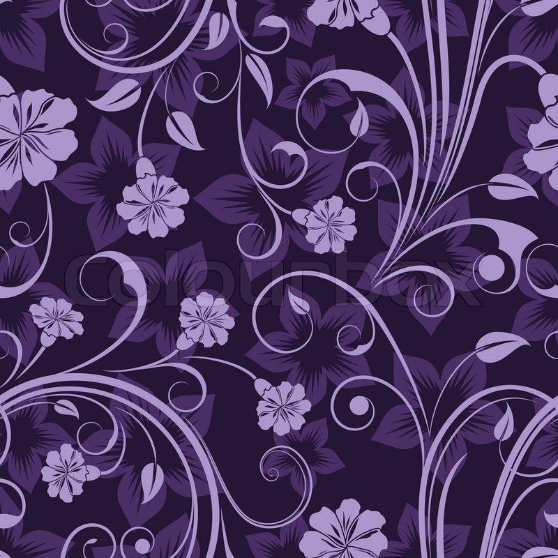Purple Floral Wallpaper Pattern 800x800 Download Hd Wallpaper Wallpapertip