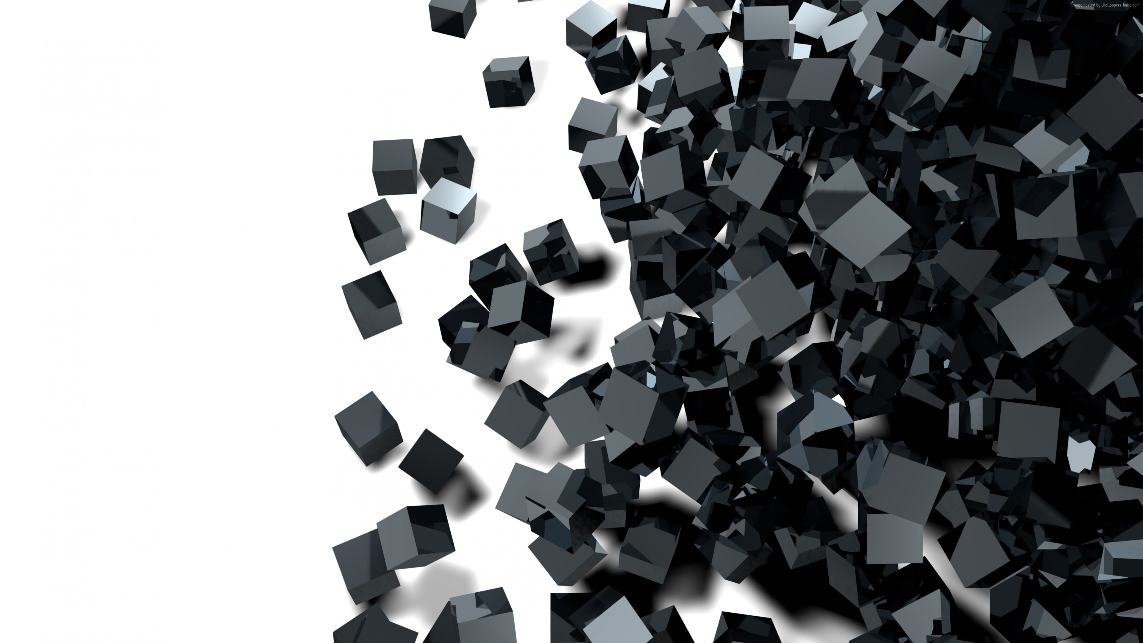 Wallpaper Cube Glass Black 3d 4k Abstract Black And White Abstract Wallpaper Iphone 3840x2160 Download Hd Wallpaper Wallpapertip