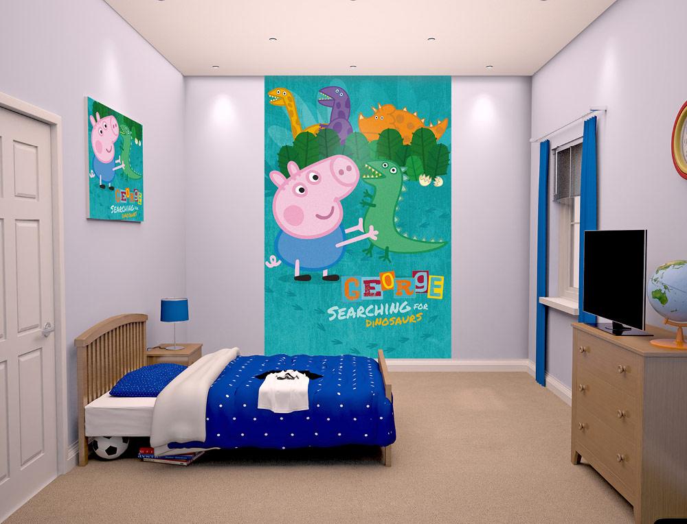 Carta Da Parati George Pig Carta Da Parati Camera Da Letto Peppa Pig 1000x764 Wallpapertip