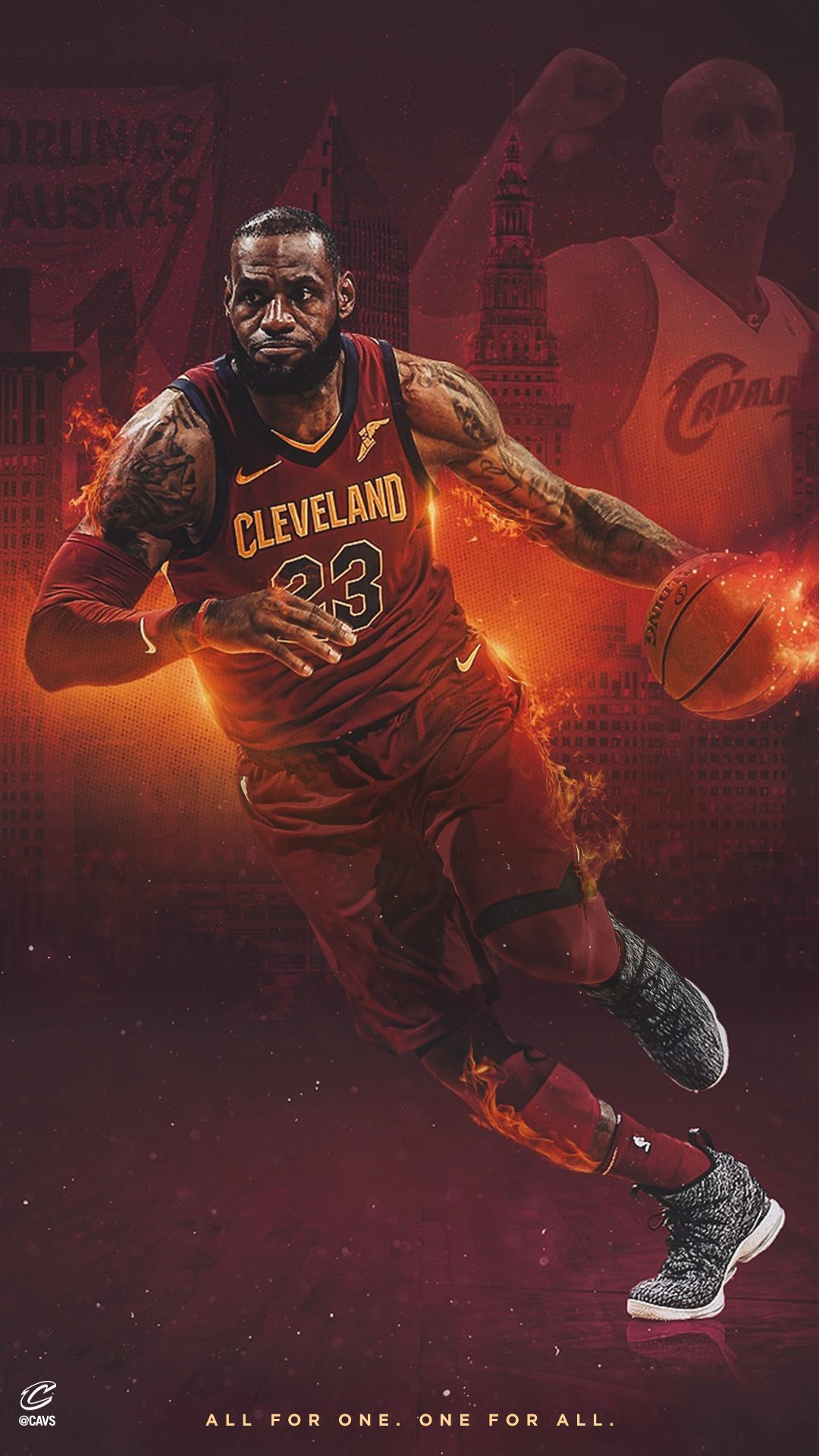 Lebron James Iphone Wallpapers Lebron James Cavs Iphone Xs 1080x1920 Download Hd Wallpaper Wallpapertip
