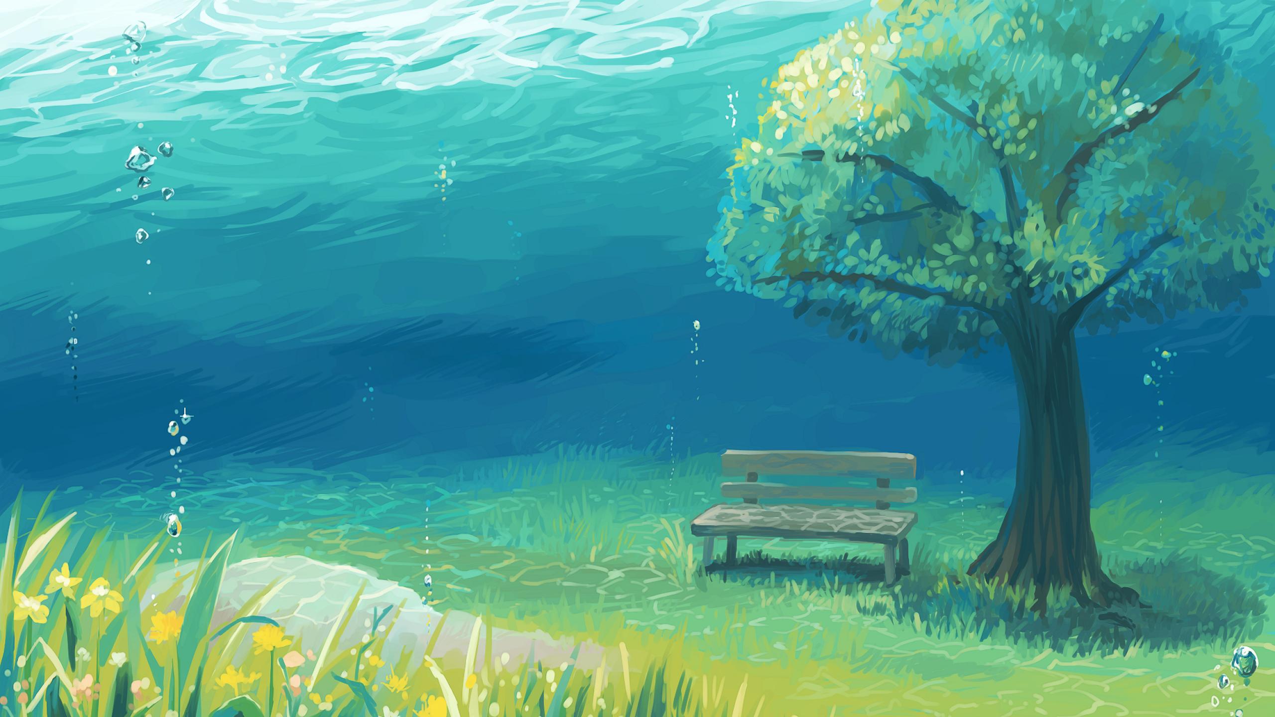 アニメ風景 アニメ風景の壁紙 2560x1440 Wallpapertip
