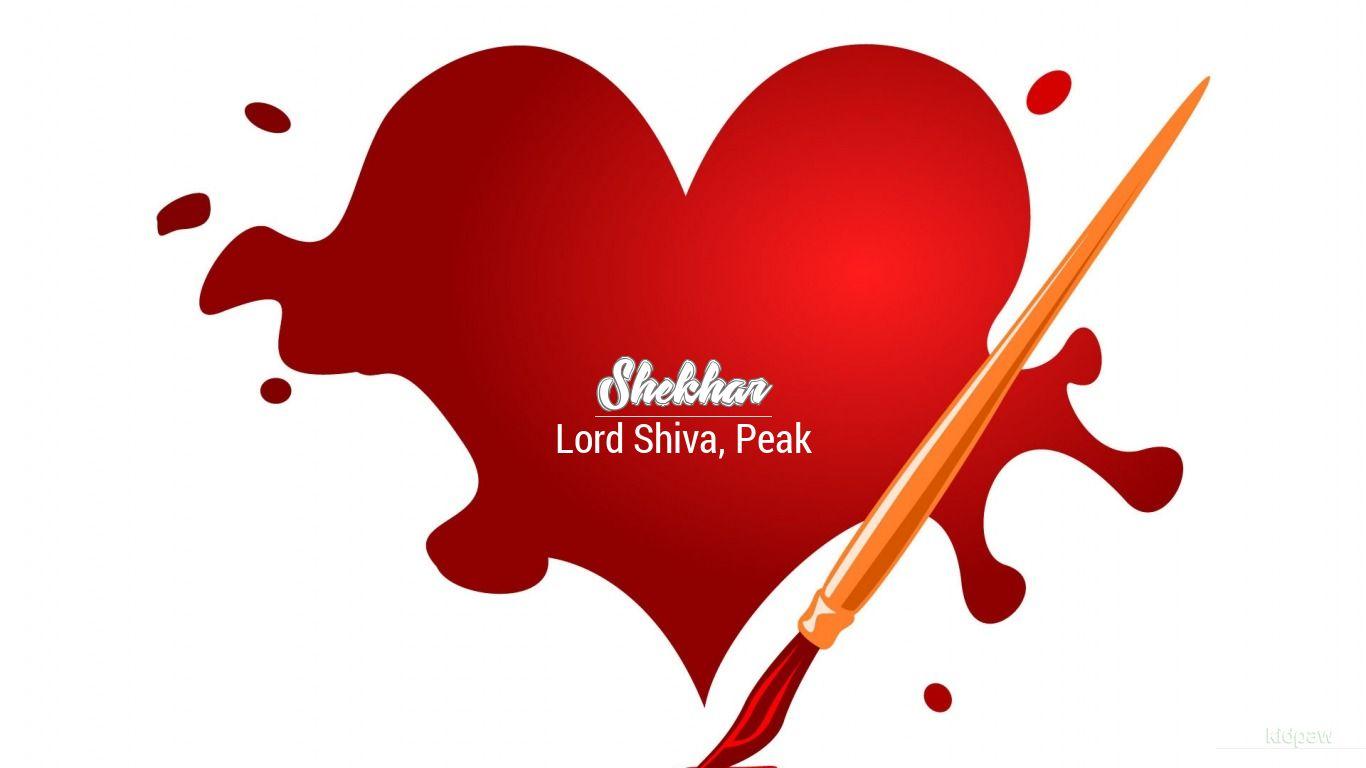 Coeurs D Amour Animes Fond D Ecran Du Nom De Shekhar 1366x768 Wallpapertip