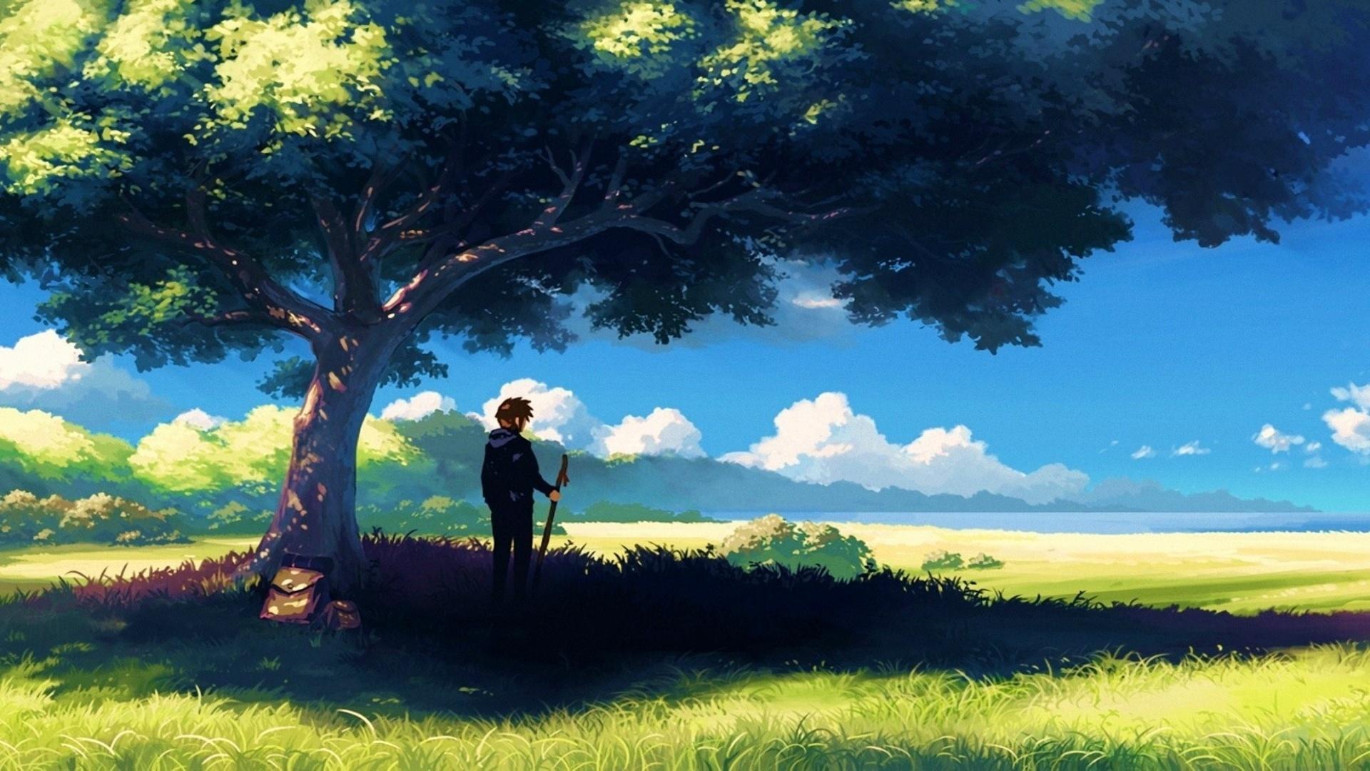 アニメ風景 アニメ自然の壁紙 1366x768 Wallpapertip