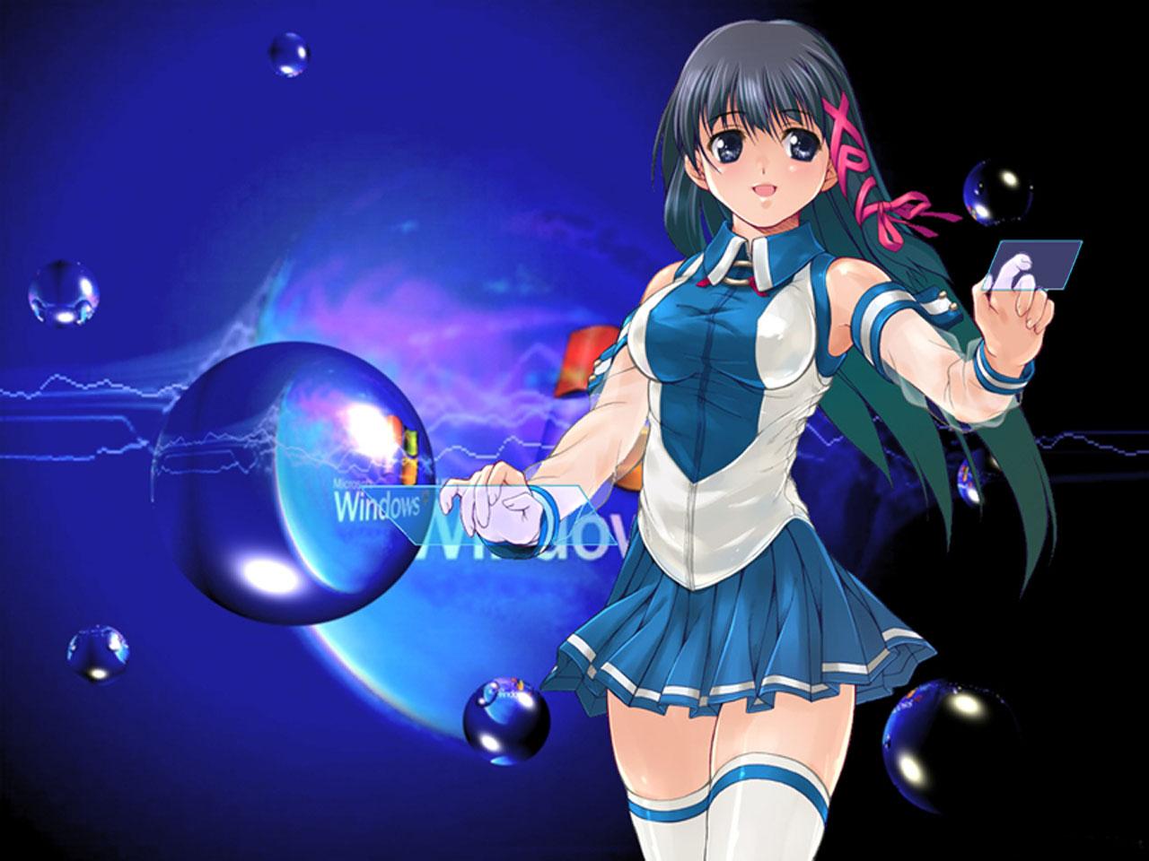 Anime Fille Gagner 7 Fond D Ecran Anime Windows 1280x960 Wallpapertip