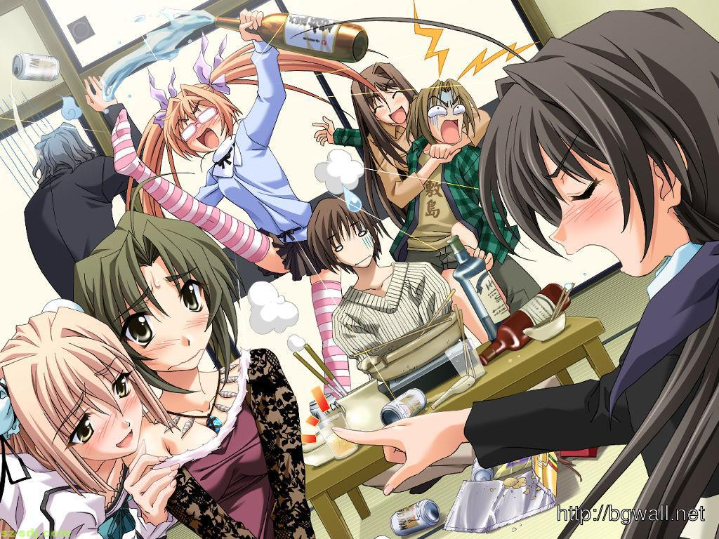 Anime Group Of Friends Funny 1024x768 Download Hd Wallpaper Wallpapertip