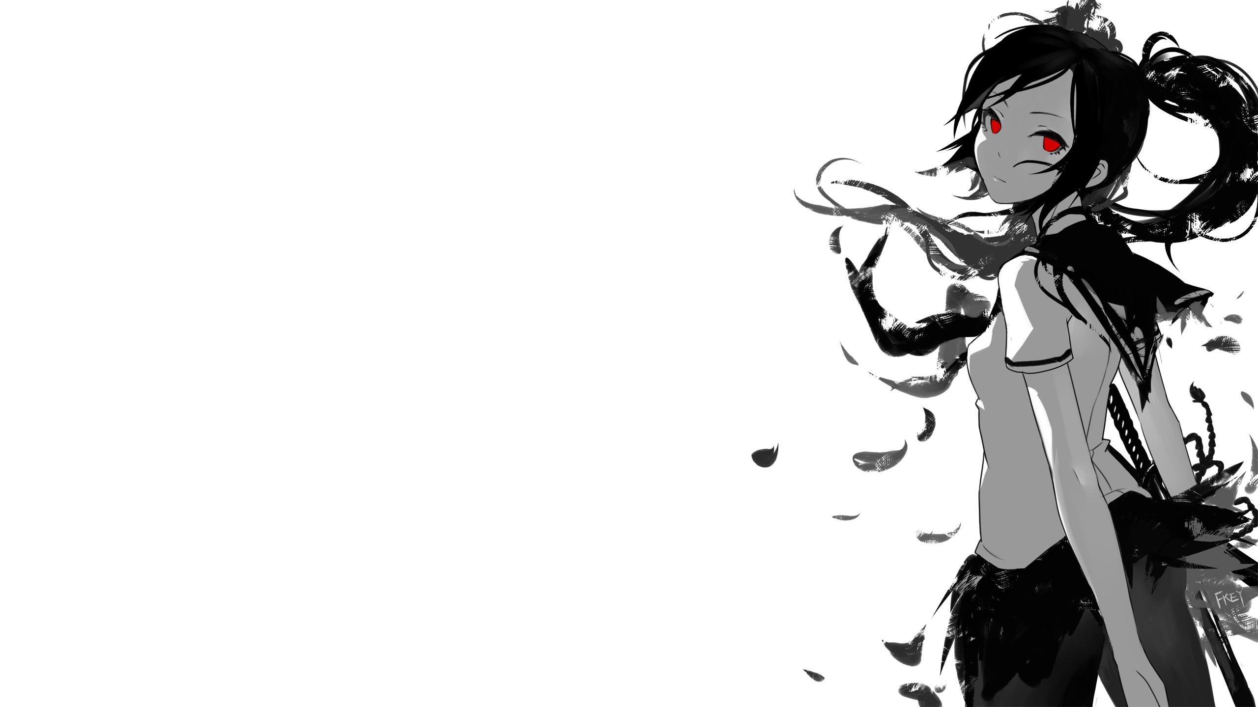 879666 Title Anime Original Wallpaper Anime Girl White And Black Colours 2560x1440 Download Hd Wallpaper Wallpapertip Otomachi una rainy night vocaloid. 879666 title anime original wallpaper