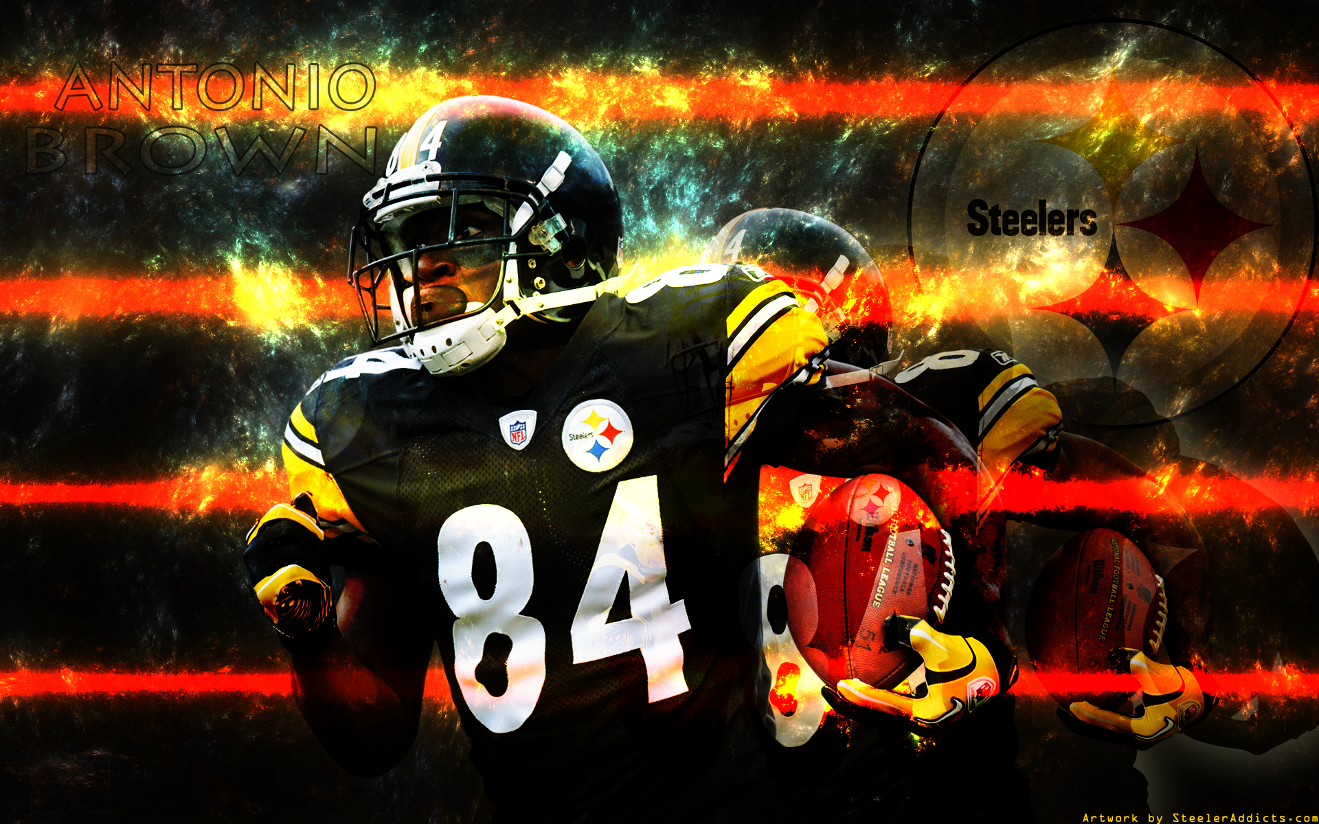 787975 Title Sports Antonio Brown Football Wallpaper Pittsburgh Steelers 1920x1200 Download Hd Wallpaper Wallpapertip