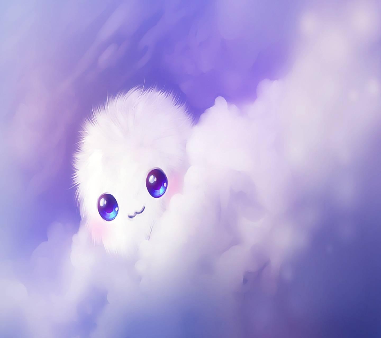 かわいいかわいい背景 かわいい雲の壁紙 1440x1280 Wallpapertip