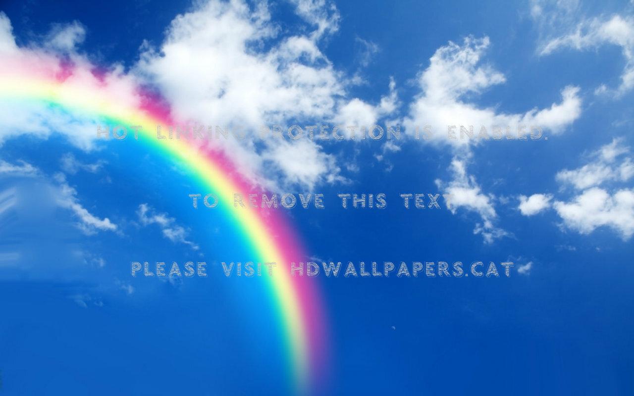 虹の空の背景のhd 虹の雲の壁紙 1280x800 Wallpapertip
