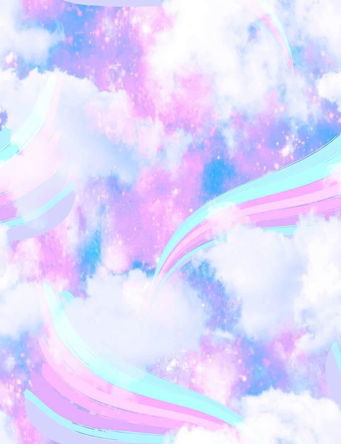 Pastel Rainbow Unicorn Background - 700x910 - Download HD ...