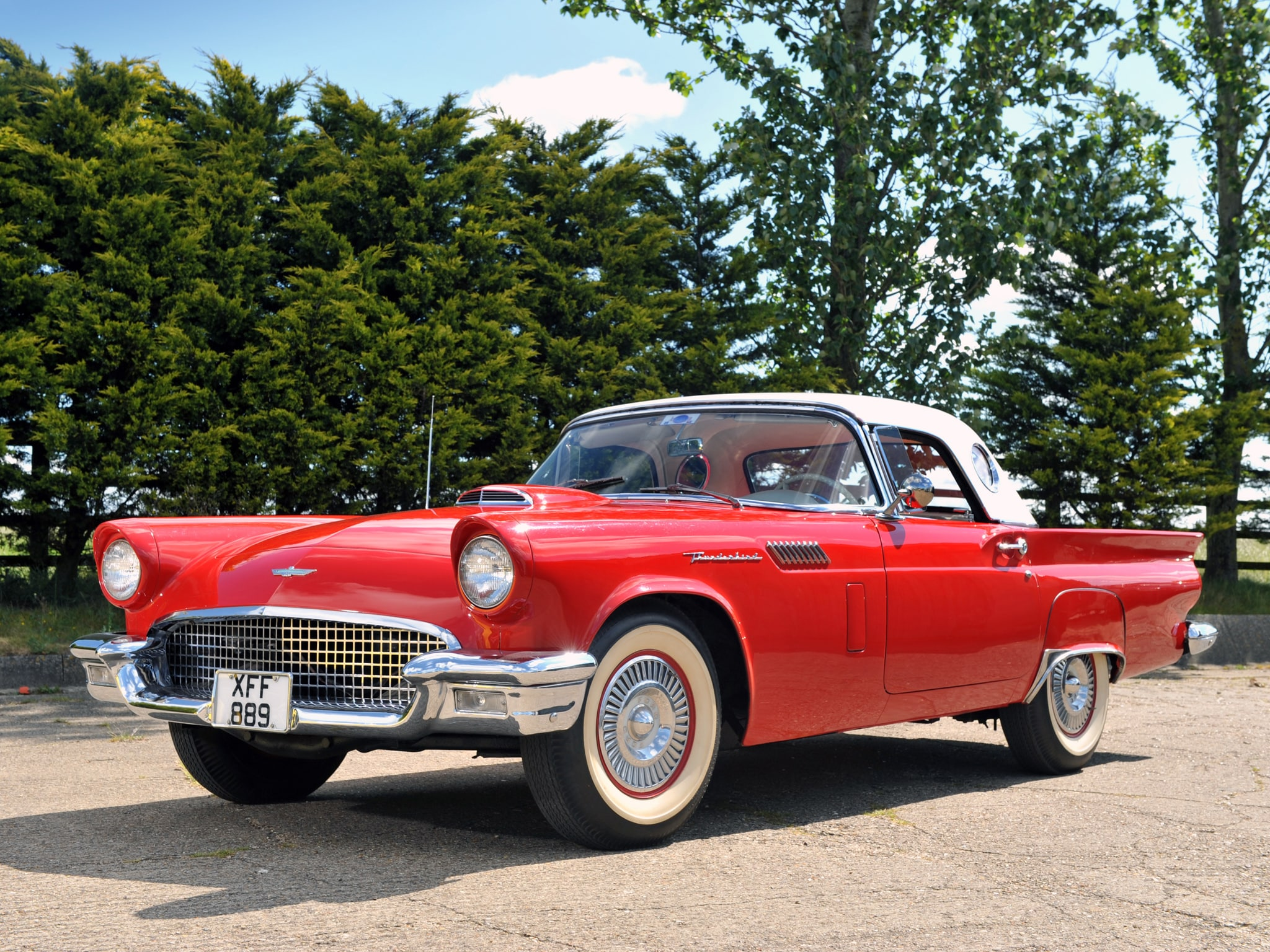 1957 Ford Thunderbird Full Hd Wallpapers Ford Thunderbird Sport 1955 2048x1536 Download Hd Wallpaper Wallpapertip