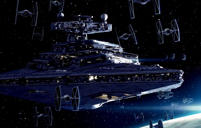 Imperial Starfleet Star Destroyer Tie Fighter Star Lego Star Wars Mini Phantom 590x400 Download Hd Wallpaper Wallpapertip