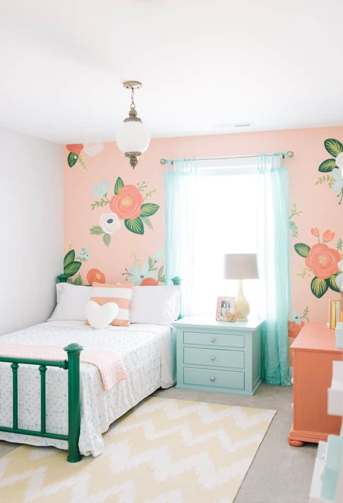 Traditional Modern Bedroom Designs For Girls With Flowers Simple Kids Room Design For Girls 676x990 Download Hd Wallpaper Wallpapertip
