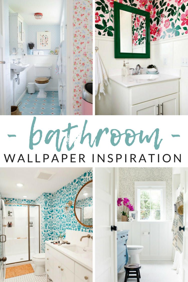 Love The Idea Of Wallpaper But Afraid To Pick Bathroom Wallpaper Ideas 2018 750x1125 Download Hd Wallpaper Wallpapertip