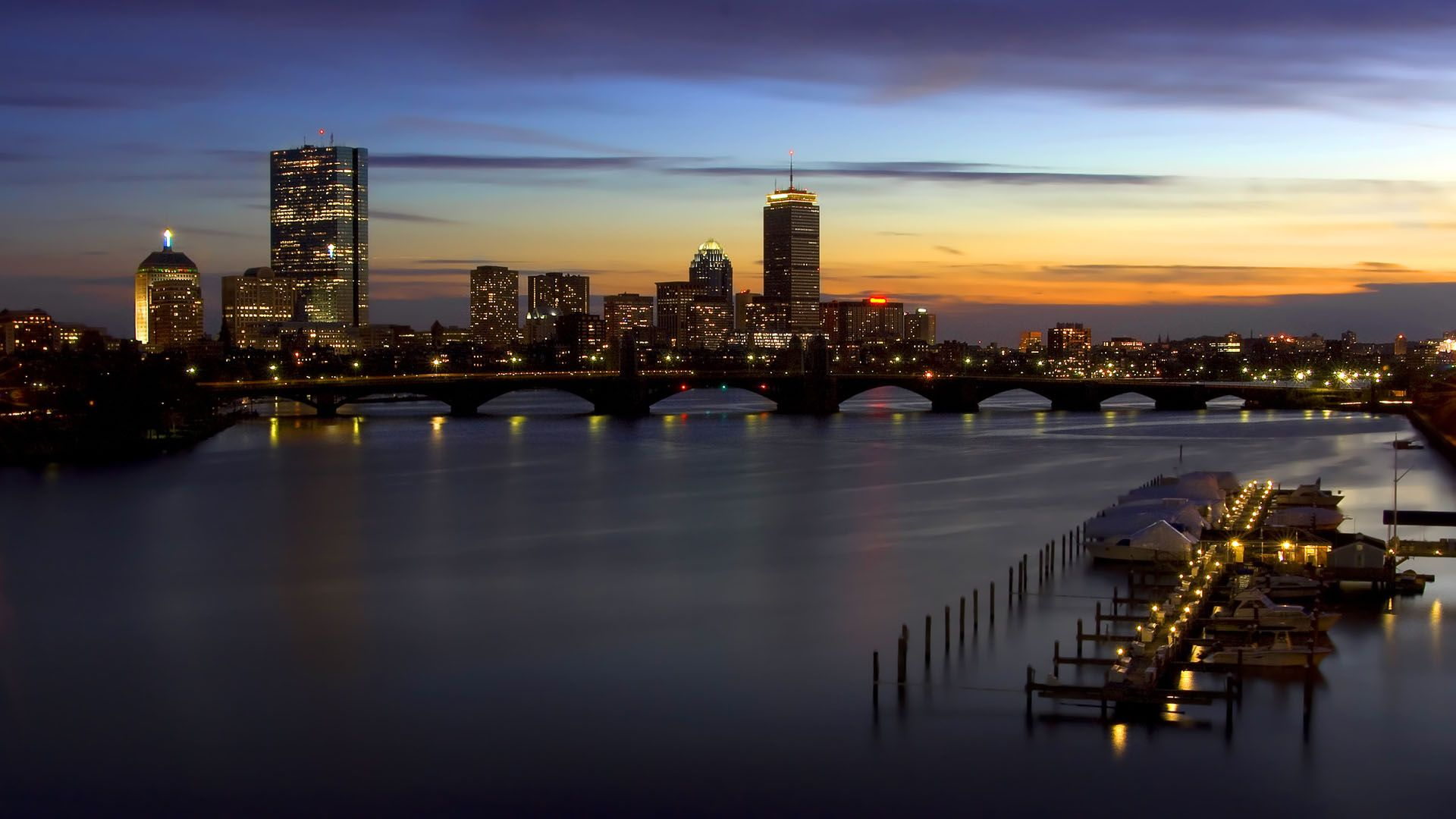 Mac Wallpaper Boston Charles River Night 1920x1080 Download Hd Wallpaper Wallpapertip