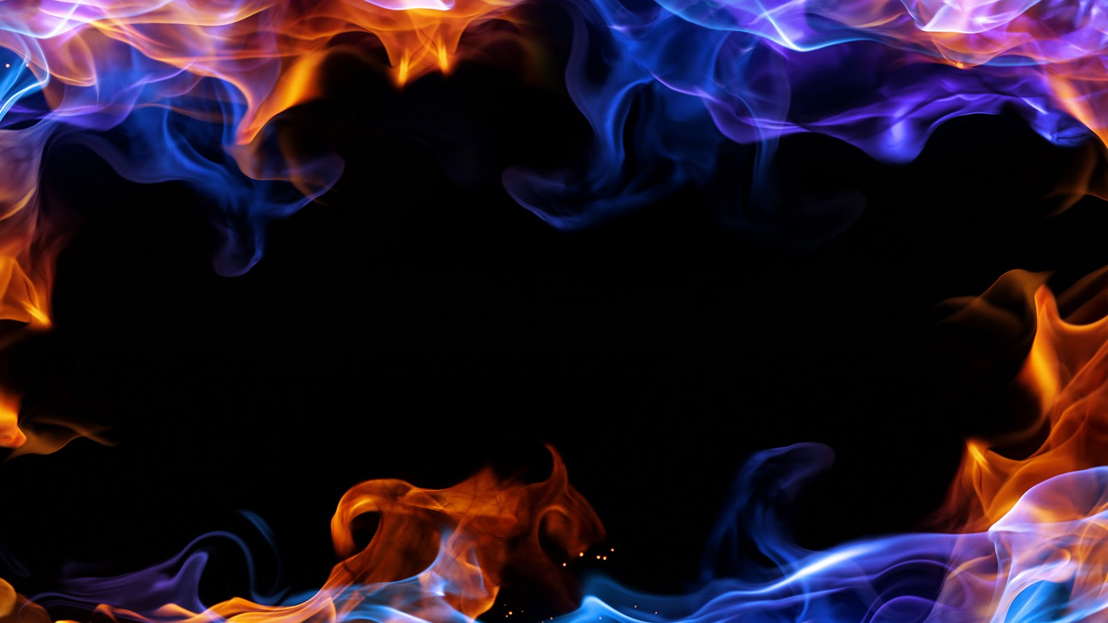 5 57007 fire wallpaper red and blue flames