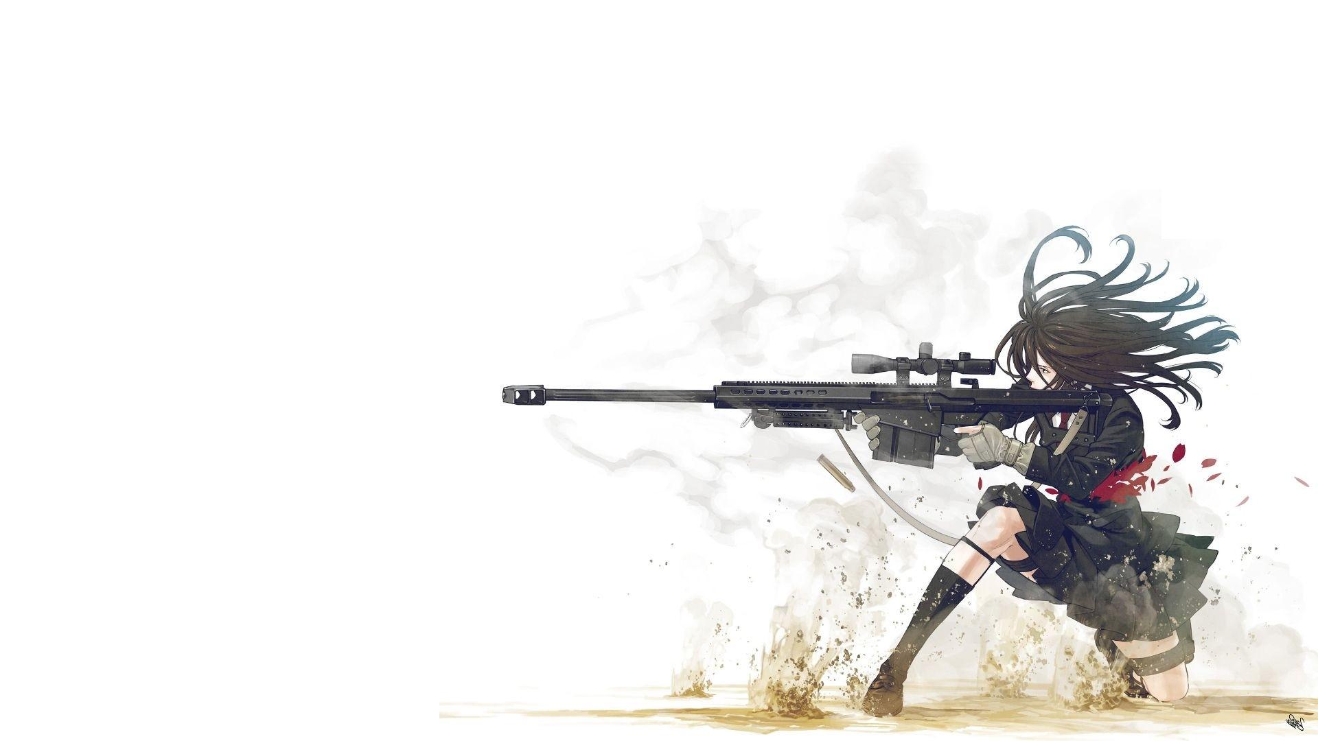 10x10, New Anime Girl Gun Wallpaper Free - Anime Girl With Gun