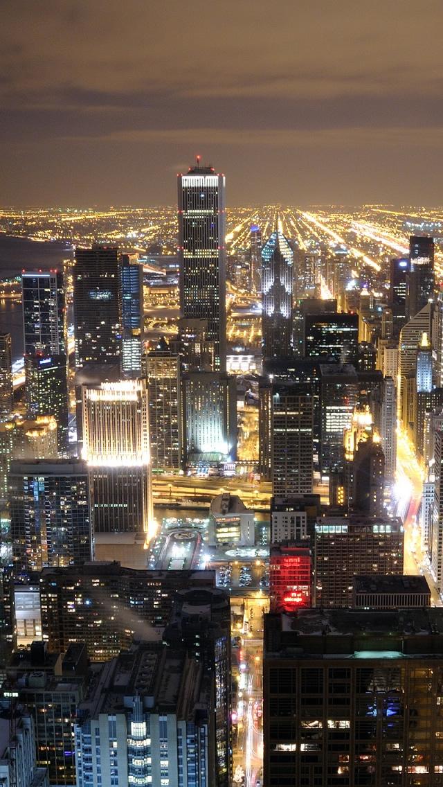 シカゴスカイライン壁紙iphone シカゴのiphoneの壁紙 640x1136 Wallpapertip