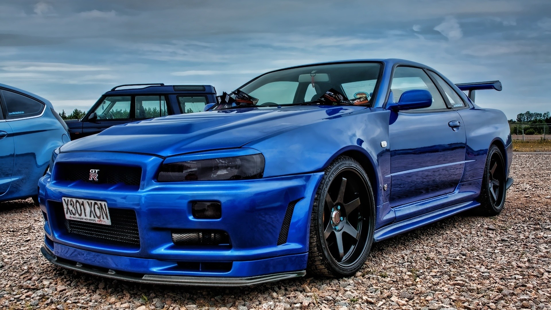 Image Of Nissan Skyline Gtr R34 Blue 1920x1080 Download Hd Wallpaper Wallpapertip