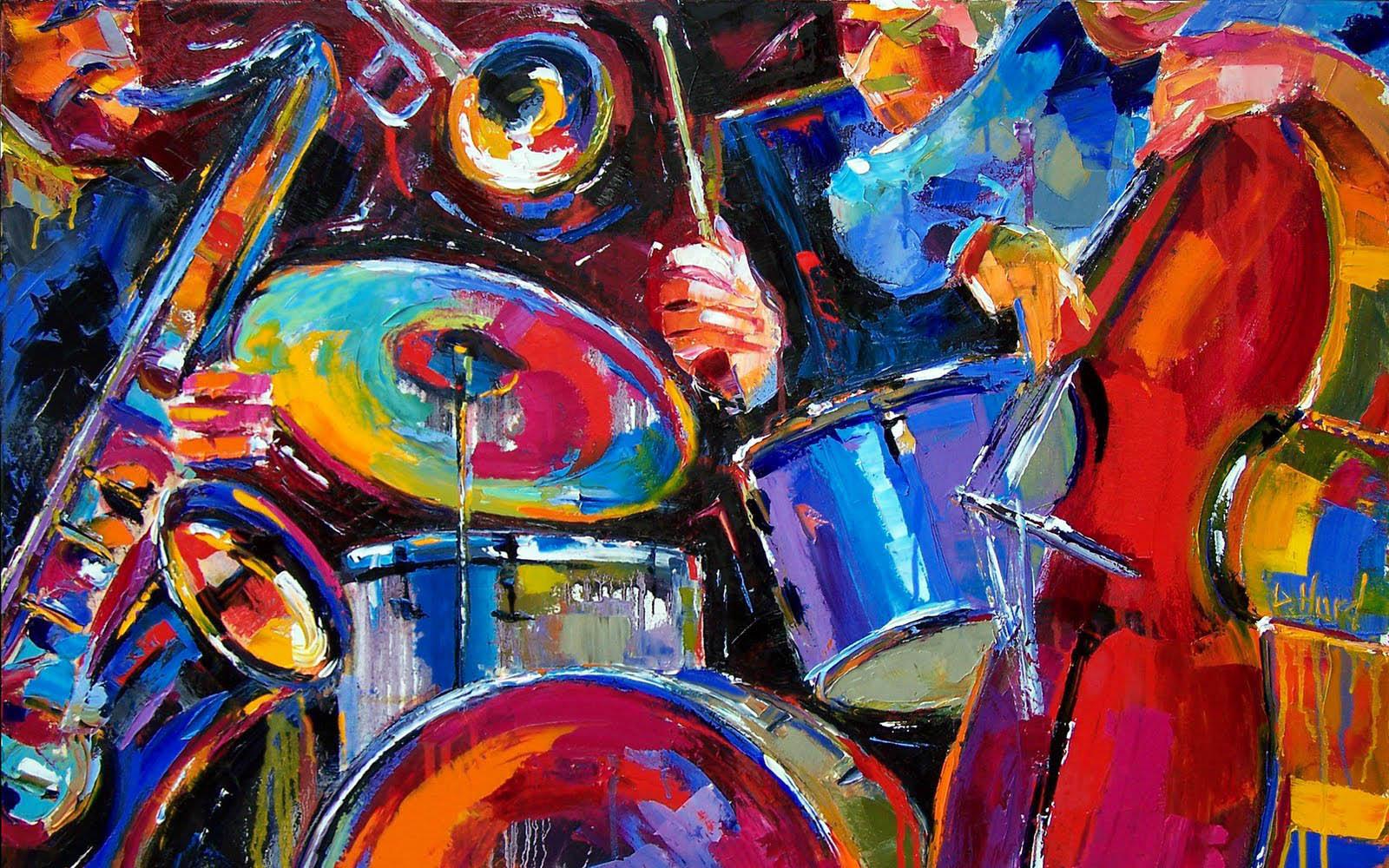 ジャズ音楽抽象芸術 現代美術の壁紙 1600x1000 Wallpapertip