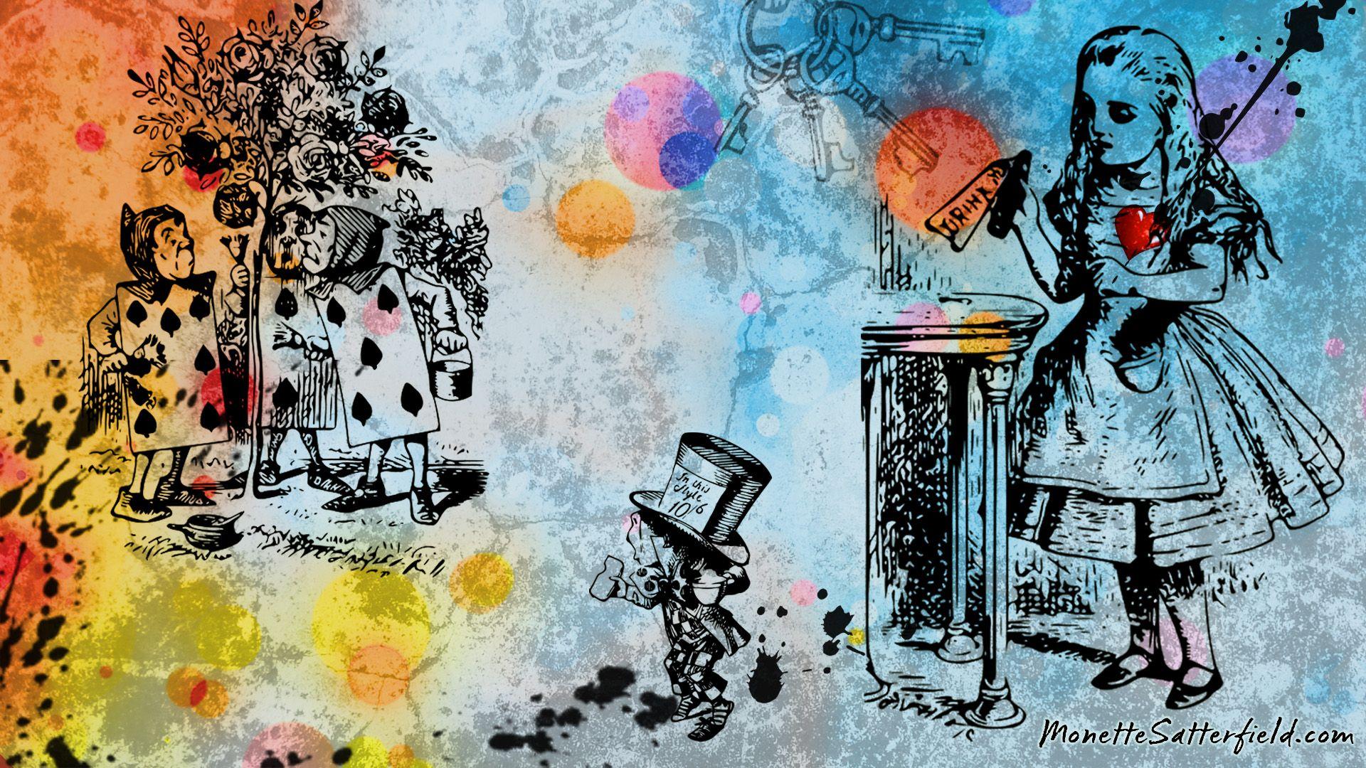 不思議の国のデスクトップアリス イム壁紙 19x1080 Wallpapertip