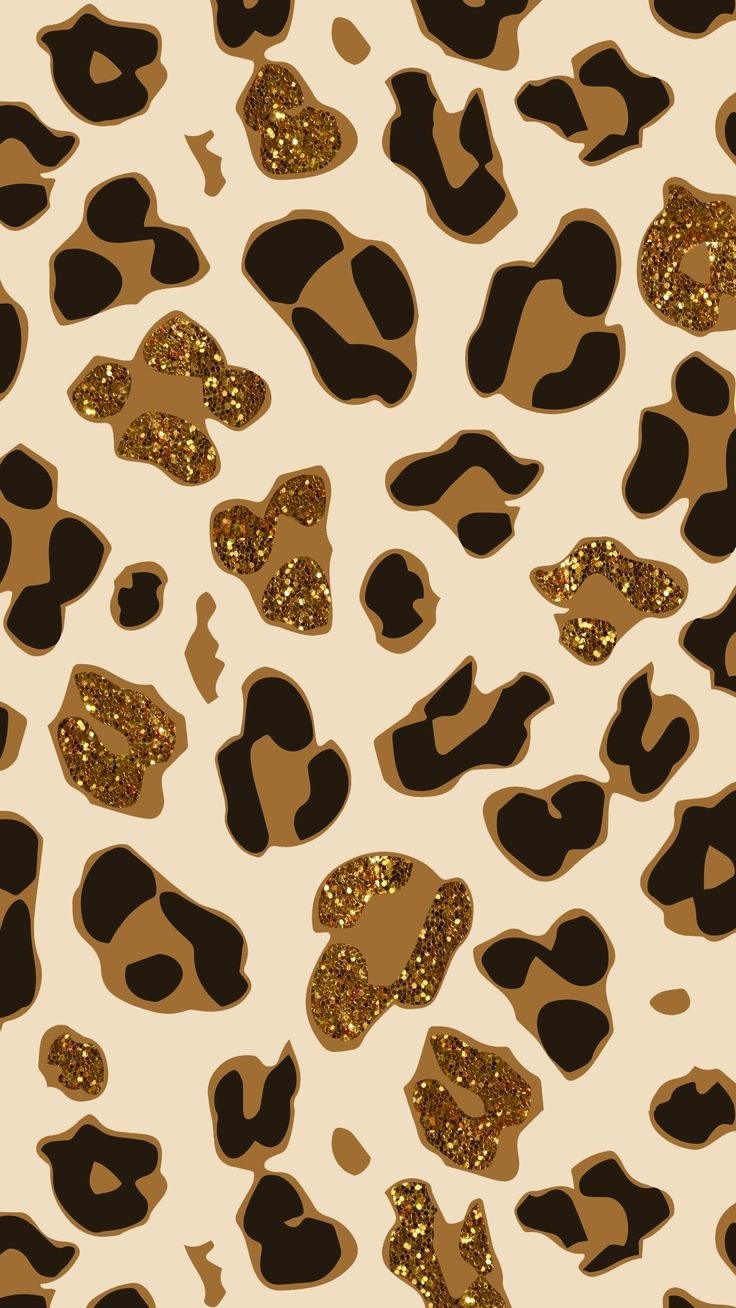 Glitter Cheetah Print Background - 736x1308 - Download HD ...