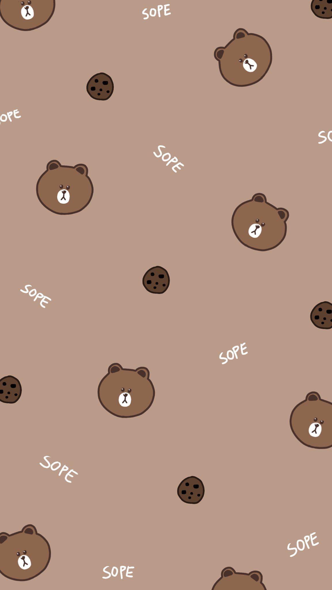 クマ壁紙かわいい ラインクマの壁紙 1153x48 Wallpapertip