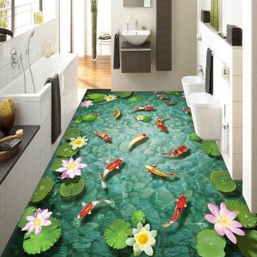 Bathroom 3d Flooring 3d Wallpaper For Floor 500x500 Download Hd Wallpaper Wallpapertip