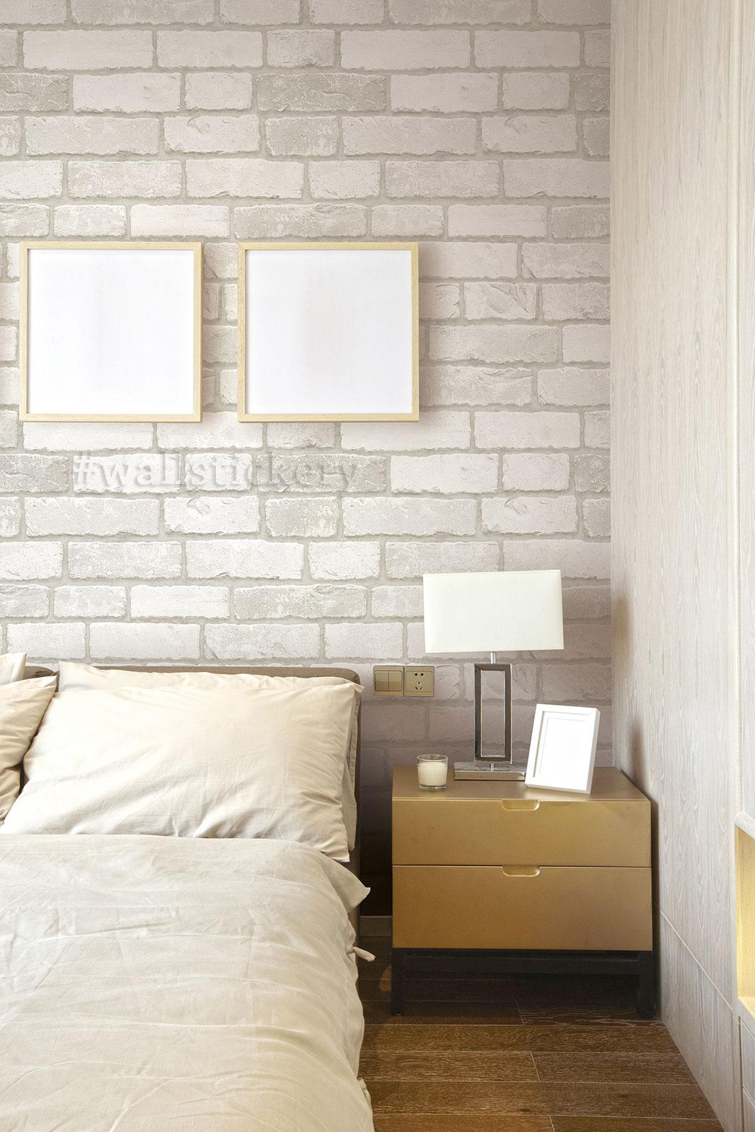 White Grey Brick Contact Paper Peel Stick Wallpaper Wood And Brick Accent Walls 1067x1600 Download Hd Wallpaper Wallpapertip