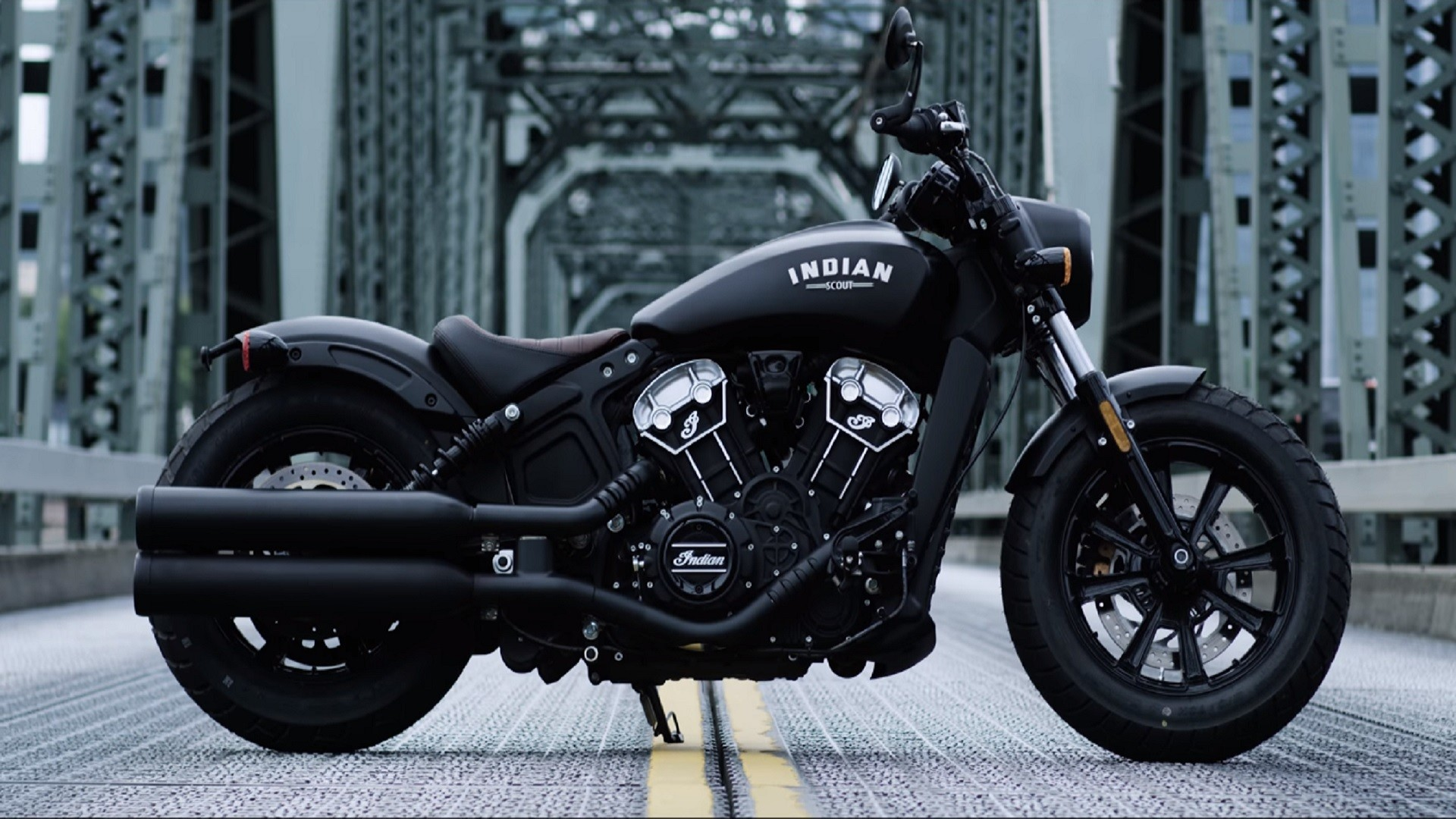 Indian Scout Bobber Motorcycle Is Slammed Style In Indian Scout Bobber Wallpaper Hd 1920x1080 Download Hd Wallpaper Wallpapertip